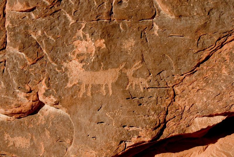 Valley of Fire  Petroglyphs  - Atlatl Rock