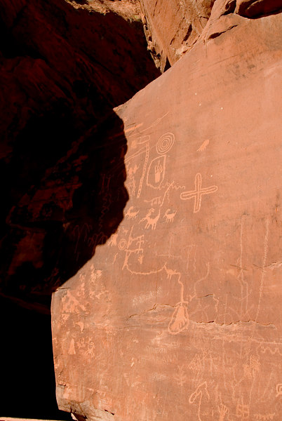 Valley of Fire  Petroglyphs  - Atlatl Rock