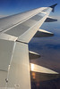 The wing from a window on Frontier Airlines