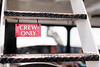 A crew only sign on a ferry boat.