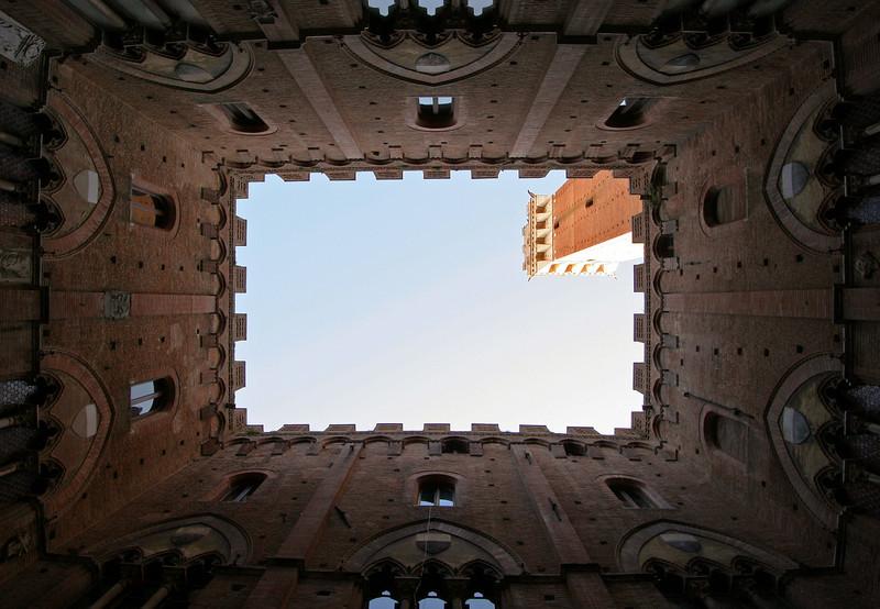 Torre del Mangia view, Siena