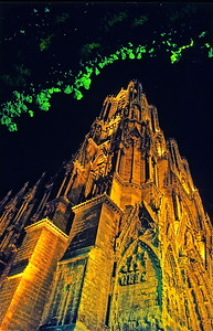 19  Rheims Cathedral at night