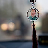 Wed 21th Nov - Out to meet Dynapac in Tianjin Dev zone. Anna has borrowed her friends car which has this Chairman Mao amulet hanging for good luck. This was very popular when I moved to China ten years ago