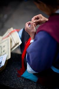Naaaxi lady working on some handicraft