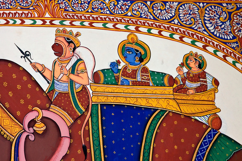 Haveli Wall Painting from the Ramayana, Mandawa (Shekhawati)