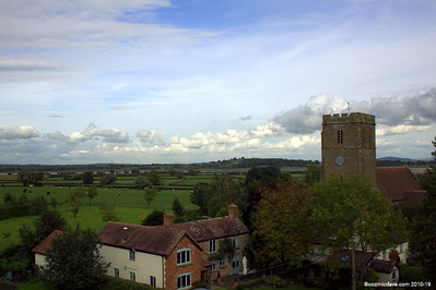 Awre, taken from the roof of the Red Hart Inn