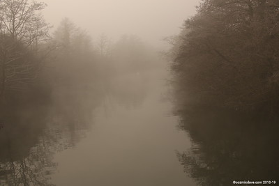 A misty morning at Lydney Harbour