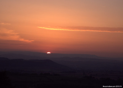 Sunset over Brecon Beacons (taken from May Hill).