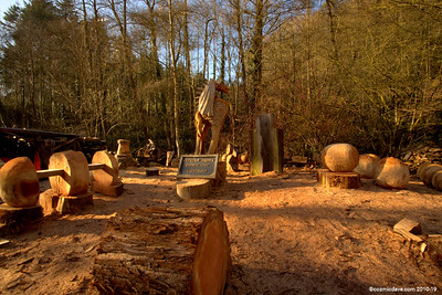 Along the Sculpture Trail at Dean Heritage Centre.