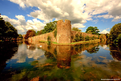 Bishops Castle Moat and Walls 002