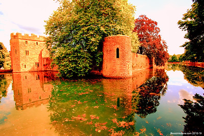Bishops Castle Moat and Walls 004