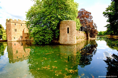 Bishops Castle Moat and Walls 003