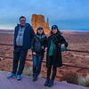 Friends Watching Sundown on the Mittens, Monument Valley (1 February 2018)