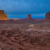 Sundown The Mittens with Merrick's Butte, Monument Valley (1 February 2018)