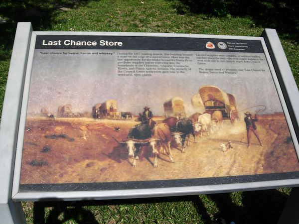 Last Chance Store 1857 on Santa Fe Trail, Council Grove KS (June 2007)