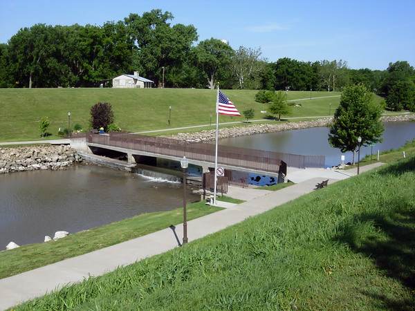 Neosho River Crossing on Santa Fe Trail, Council Grove KS (June 2007)