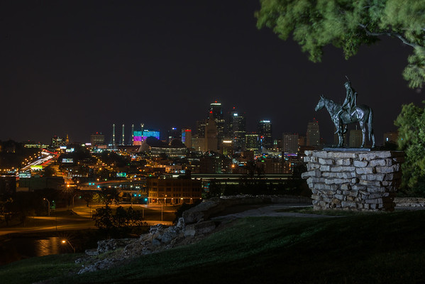 Scout Overlooking Kansas City, Kansas City MO (August 2014)