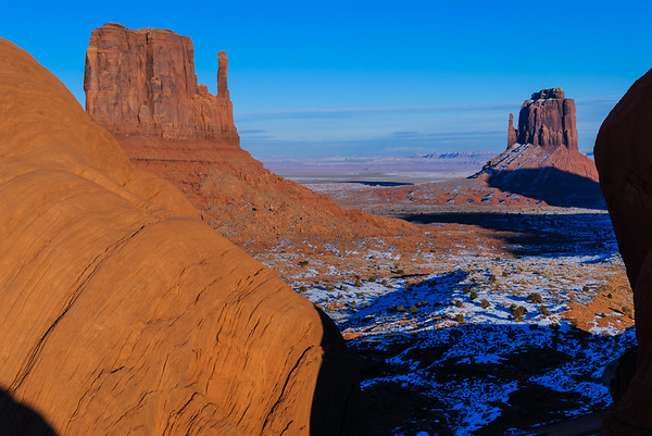 Left and Right Mittens, Monument Valley, Kayenta AZ (17 December 2007)