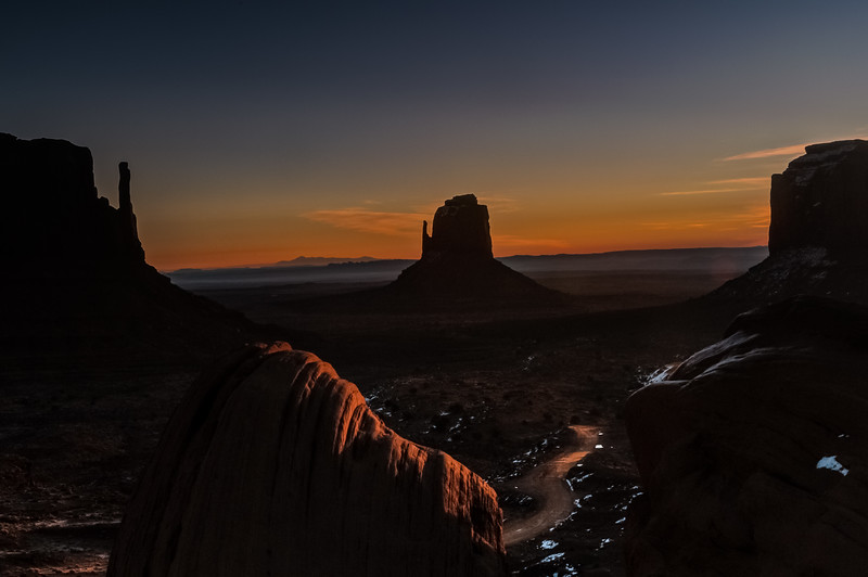 The Left and Right Mittens, Monument Valley, Kayenta AZ (17 December 2011)