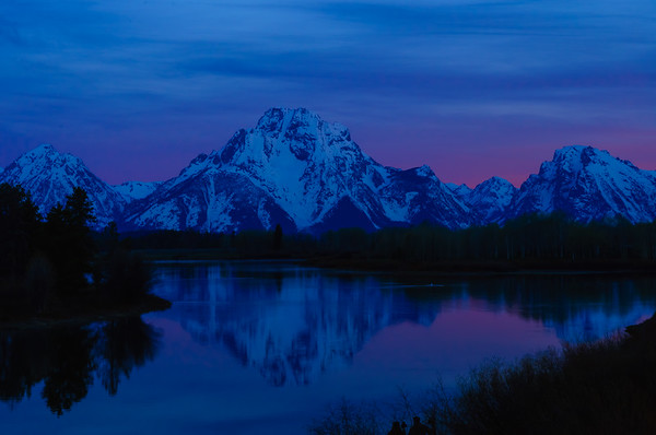 The Beginning of Sunrise on Mt Moran, Oxbow Bend Grand Tetons NP (5 June 2011)