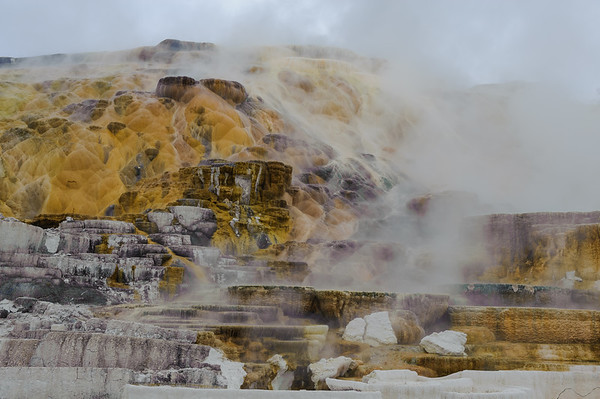 Mammoth Hot Springs Terraces, Yellowstone NP 2012