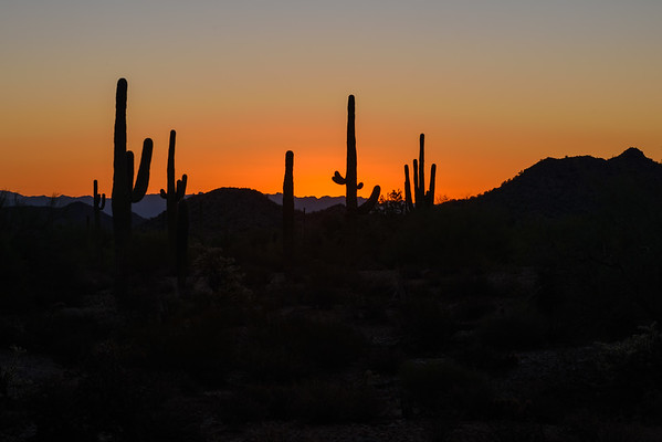 Morning Sunrise on San Tan Mountains (25 September 2015)