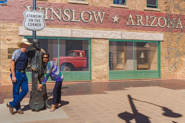 Standin On The Corner, Winslow AZ (19 September 2015)