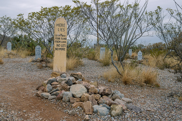 Lester Moore Grave Marker at Boothill, Tombstone AZ (8 January 2015)