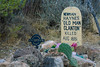 Old Man Clanton Grave Marker at Boothill, Tombstone AZ (8 January 2015)