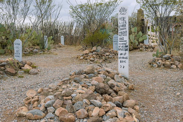 George Johnson Grave Marker at Boothill, Tombstone AZ (8 January 2015)