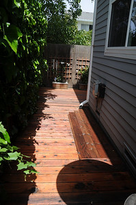 After the redwood stain and sealer