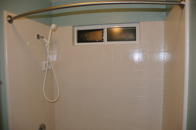 Guest bath with new tiles