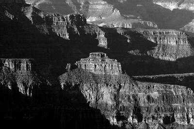 North Rim<br /> Grand Canyon Sunrise 3 bw