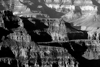 North Rim<br /> Grand Canyon Sunrise 6 bw