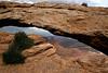 Rain drops on Mesa Arch, Canyonlands National Park, Utah