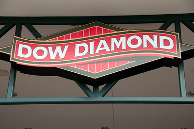 The Dow Diamond logo welcomes you to the park
