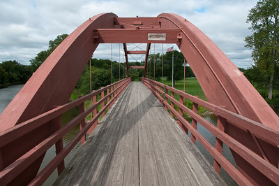 The Tridge crosses over to Midland's Chippewassee Park, the location of many festivals and activities throughout the year.