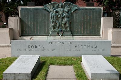 The Korea/Vietnam memorial in Midland.