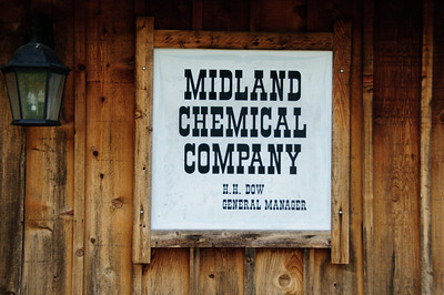 Next to the mill is a replica of the 1890 Midland Chemical Co., Dow's first manufacturing plant.