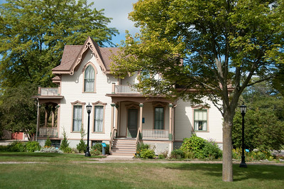 The Bradley home was built in 1874 and is a fine example of Victorian Gothic architecture.