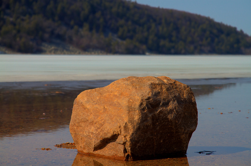 Devil's Lake rock.