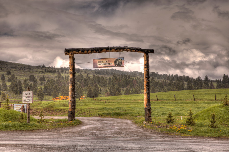 Entrance to Montana Grizzly Encounter, Bozeman, Montana