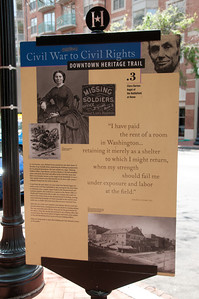 Sign outside a building near our lunch stop. Turned out to be Clara Barton's first residence and where the American Red Cross was born.
