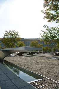 A different perspective on the Pentagon Memorial.