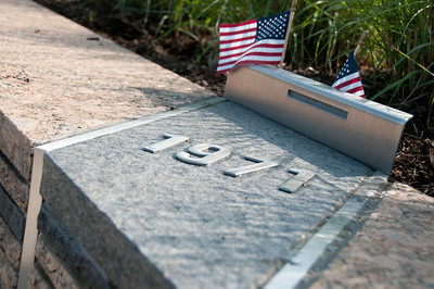 The individual benches, each representing someone who died at the Pentagon on 9/11, are arranged by date of birth. The youngest was born in 1998.