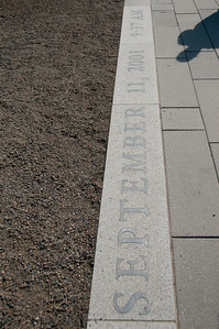 """This is called the """"Zero Line"""" and it was made from limestone recovered from the Pentagon, days after the attack. Etched is the time and date of the attack."""