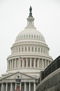 """My first view of the Capitol dome as we made our way there for our next """"private"""" tour. It sure pays to have friends in high places!"""
