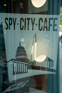 There was a spy museum with a great little store that we perused. I loved the iconic logo of its cafe.