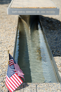 Detail of another bench in the Pentagon Memorial.