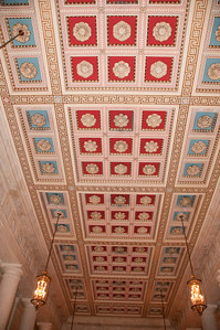 Detail of the ceiling in the grand entrance hall of the SC building.